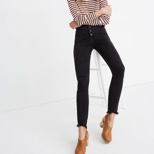 "Petite 10"" High-Rise Skinny Jeans Berkeley Black"